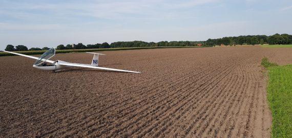 noodlanding zweefvliegtuig